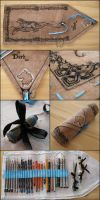 Dark's Pencil Wrap - handmade art-wrap by Dark-Lioncourt