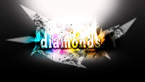 Diamonds Text by Me by whozZy94