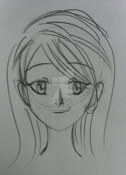 Manga girl face by KevinLK92