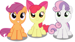 Vector #444 - The (Adorable) CMC Sitting by DashieSparkle