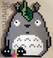Totoro With Soot Sprites by PerlerPixie