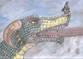 Dragon, tempera painted. by alekksandar