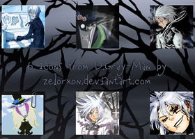 6 D.Gray-Man icons by Zelorxon