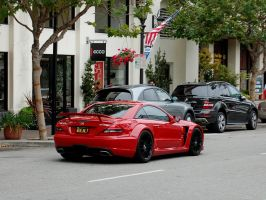 RED Mercedes SL65 Black Series by Partywave