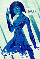 Cortana - Halo - Pinup by ron-guyatt