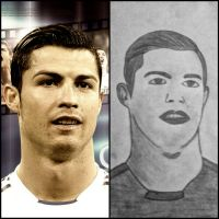 Cristiano Ronaldo drawing by Hshamsi