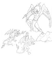 Angal and Demons lines by eddythedreamer