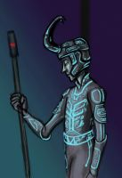 TRON Loki by disneyjedi1
