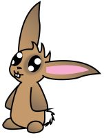 Brown bunny by kungfudemoness