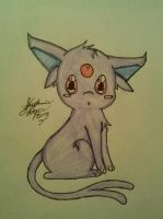 Espeon drawing by Miku-chan9