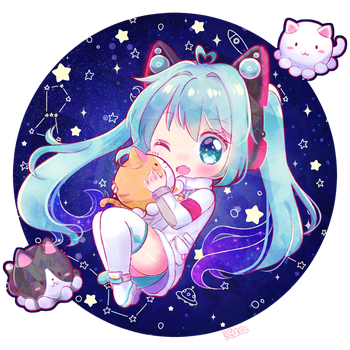 Space Miku by kuatakeru