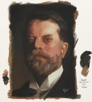 Sargent Self Portrait Study by SimonLoche