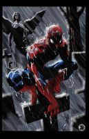 SPIDER-MAN PONDERING by KYLE-CHANEY