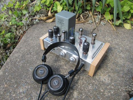 Tube Preamp and Headphone Amp by MongoTheManiac
