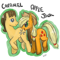 Caramel and AppleJack Comm by AppleJackDerp