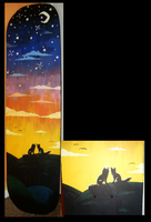 skateboard painting by pandapoots