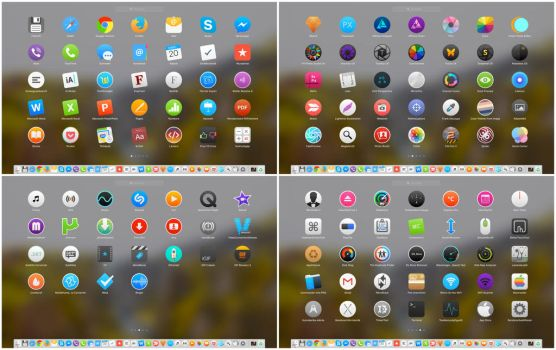 OSX Yosemite and El Capitan style icons preview by TigerCat-hu