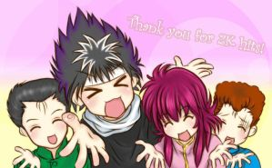 :YYH: YuYu Star-Thanks 2K PVs by Benitora53