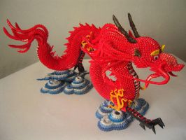 3D Origami Dragon with Stand by cpcentral