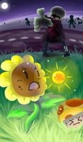 Plants vs. Zombies by Kikiine