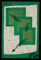 Abstract Green Squares by CizreK