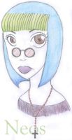 The girl with glasses by Neos-raven