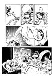 Me inking Mike Allred pg 4 by Devilpig
