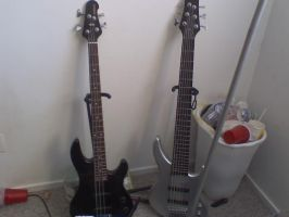 4 string bass vs 6 string bass by ElizzaBeast