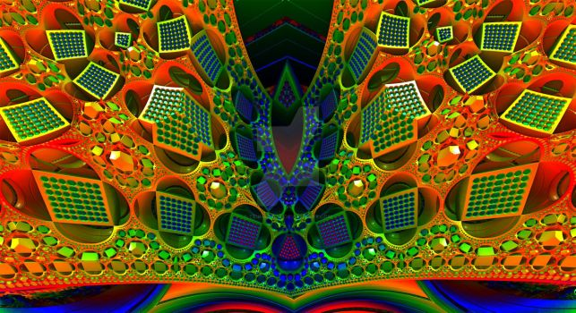Gleaming the Rainbow Cubes by Trip-Artist