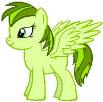 Minty Leaf (Silver Streak x Candybuzz Filly) by Fluttershy-Lover