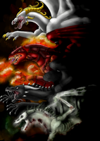 .:Four Dragon of the Apocalypse:. by Kryptangel