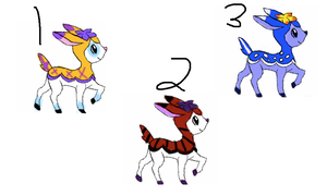 Deerling adoptables by The-Insane-Puppeteer