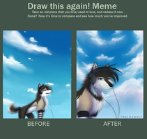 Before and After Meme by TrelDaWolf