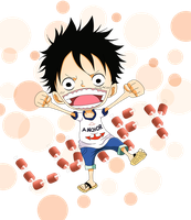 Child or chibi - Luffy by MalaMi95