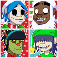 Gorillaz Christmas Icons by faster-by-choice