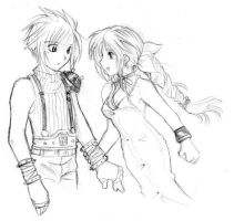 Quick Pic - Cloud and Aeris by Seii-Monogatari