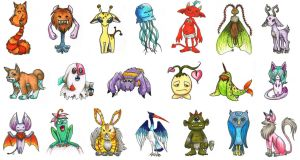 Monster Designs by Kaalii