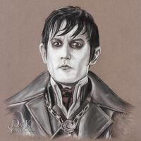 The Stare of Barnabas Collins by BigMiketheArtist