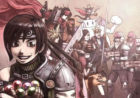 Yuffie finds Materia by fedde