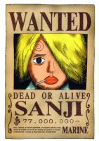 Sanji wanted by juju67