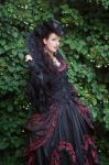 Stock - Baroque Lady  pose gothic red black side by S-T-A-R-gazer