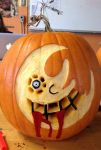 Soul Eater Moon Carving by nizzie12