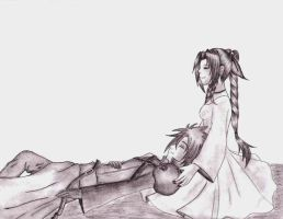 Peaceful Cloud And Aeris by DarkAngel0267