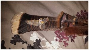 Finished Flying Falcon Feather by Psychopomp16