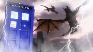 Dr Who and the Dragons of Skyrim by Vicki73