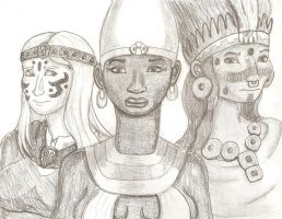 Queens of the Ancient World by DaBrandonSphere