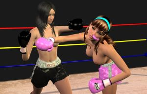 10,000 pageviews! Ryoko Vs Lilly A by chuy9502