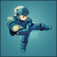 My Megaman Rendition by pixel-sketch