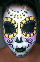 yellow sugar skull by ARTSIE-FARTSIE-PAINT