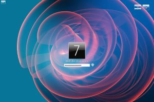 Windows 7 Logon Screen Glass 32 Bit and 64 Bit by weltdeswahnsinns